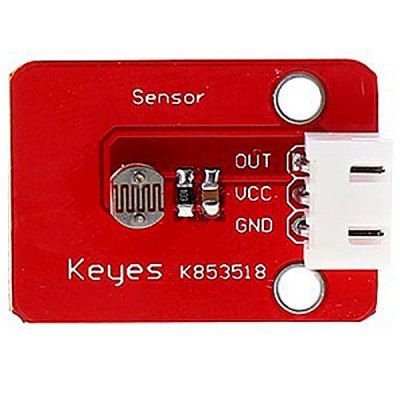 KEYES DIY 3 - pin Photosensitive Sensor Module for Arduino with Dupont Cable (Red)