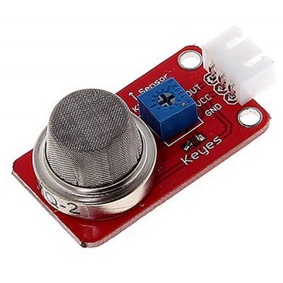 KEYES DIY 3 - pin MQ2 Smoke Gas Sensor Module for Arduino with Dupont Cable (Red)