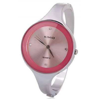 Waterproof Stylish Women Bracelet Watch Analog with Round Dial Steel Watch Band