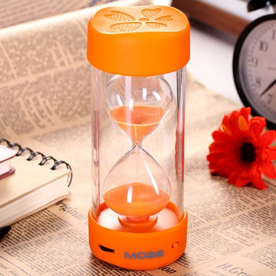 MOA6R Sand Clock Shaped Wireless Bluetooth Speaker With Microphone Fun