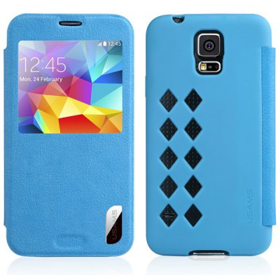 USAMS Cloud Series PU + TPU Cover Case for Samsung Galaxy S5 i9600 SM-G900