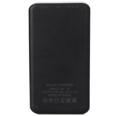 DS-2122 12000mAh Solar Charger Mobile Power Bank of Touch Power SwitchPower Banks<br>DS-2122 12000mAh Solar Charger Mobile Power Bank of Touch Power Switch<br><br>Type: Solar Chargers<br>Compatibility  : Nokia, Nokia, MP4, Galaxy Note 2 N7100, Galaxy Note 2 N7100, iPhone 5/5S, iPhone 5/5S, MP4, iPad, iPad, iPhone 5C, iPhone 4/4S, LG, LG, iPod, iPod, iPhone 5C, iPhone 4/4S, Sony Ericsson, Sony Ericsson<br>Capacity (mAh): 12000mAh<br>Special Functions: Solar Charger, Multi-Output<br>Connection Type: Micro USB<br>Battery type: Li-Polymer Battery<br>Color: Black<br>Material: PC<br>Input: DC 5V/1A<br>Output: DC 5V/1A; DC 5V/2.1A<br>Product weight: 0.21 kg<br>Package weight: 0.33 kg<br>Product size (L x W x H) : 15 x 8 x 1.2 cm/6 x 2.4 x 0.5 inches<br>Package size (L x W x H): 19 x 14 x 3 cm<br>Package Contents : 1 x Power Bank Charger, 1 x Micro USB Cable