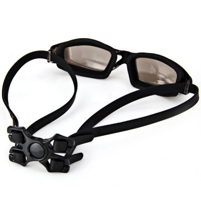 Гаджет   Excellent OP1935 Electroplating Lens Anti - fog and Anti - UV Silicone Swimming Glasses for Adult Swimming
