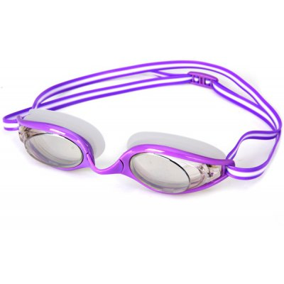 Excellent S962M Purple Frame Anti - fog and Anti - UV Silicone Swimming Glasses for Adult