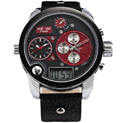 Гаджет   Weide Cool Design LED Watch with Japan Three - movt Date Round Dial and Leather Band
