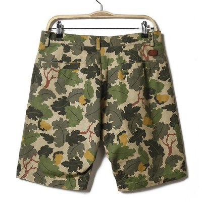 Casual Style Zipper Fly Polyester Camouflage Shorts For Men