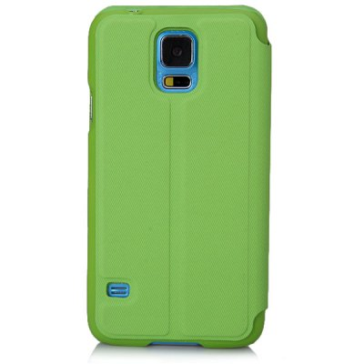 Hello Deere Window Series Plastic and PU Leather Stand Case with View Window for Samsung Galaxy S5 i9600 SM - G900