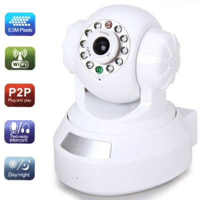 RP203 0.3 Million Pixels IP Wireless/Wired Camera (P2P)