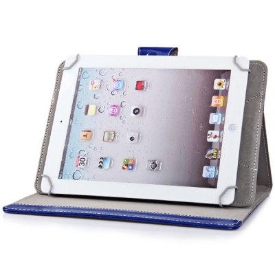 ФОТО Foldable Stand Function Design Adjustable Elastic Foot Pattern Artificial Leather Material 10.1 inch Tablet PC Protective Case