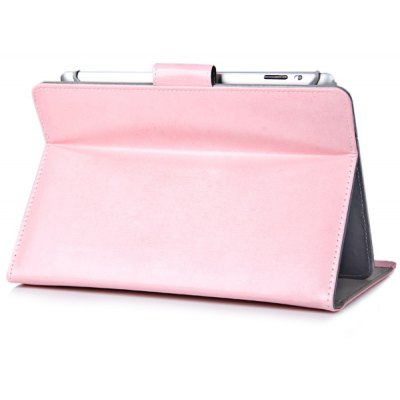 Foldable Stand Function Design Adjustable Elastic Foot Pattern Artificial Leather Material 10.1 inch Tablet PC Protective Case