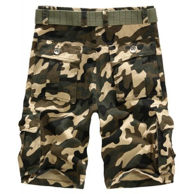 Summer Style Loose-Fitting Camouflage Cotton Shorts For Men