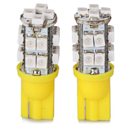2pcs/Pack 12V T10 Circuit Board SMD 1210 20 - LED Yellow Light Bulbs for Car Instrument/Reading/Side Marker Lamp