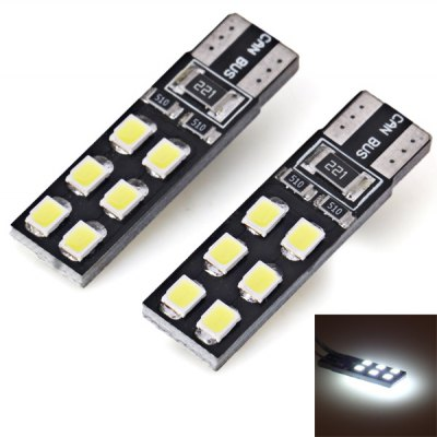 2pcs/Pack 12V T10 Circuit Board SMD 2835 12 - LED White Light Bulbs for Car Instrument/Reading/Side Marker Decoding Lamp