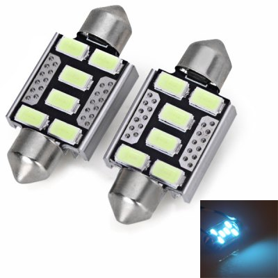 36MM SMD 5730 6-LED Ice Blue Light Car Reading Lamp