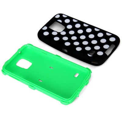 ФОТО Dots Style Plastic and Silicone Material Anti - Shock Case for Samsung Galaxy S5 i9600 SM - G900