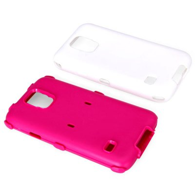 ФОТО Double Layers Style Plastic and Silicone Material Cover Case for Samsung Galaxy S5 i9600 SM - G900