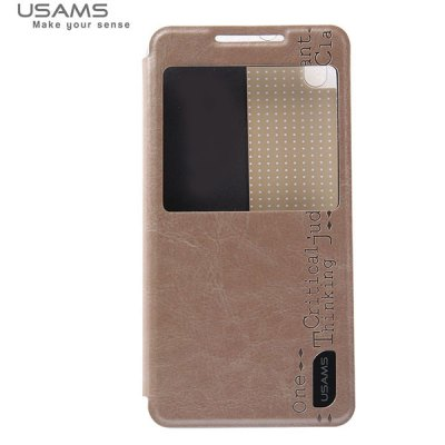 ФОТО USAMS Merry Series PU Leather and Plastic Material Case with View Window for HTC Desire 816 A5