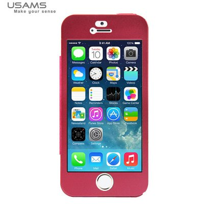 ФОТО USAMS King Kong Series Frame Style Plastic and Aluminum Material Case for iPhone 5 / 5S