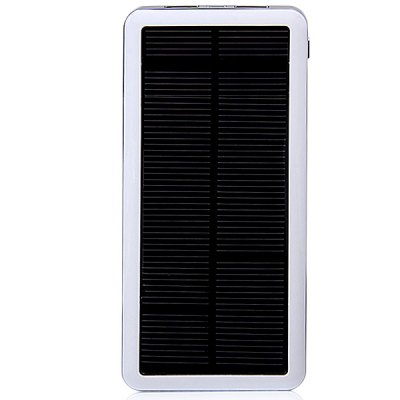 12800mAh Solar Charger Mobile Power BankPower Banks<br>12800mAh Solar Charger Mobile Power Bank<br><br>Type: Solar Chargers<br>Compatibility  : iPhone 5C, Sony Ericsson, PSP, Samsung Galaxy S4 i9500/i9505, Motorola, MP3, Galaxy Note 3 N9000, Nokia, MP4, Galaxy Note 2 N7100, iPhone 5/5S, iPad, iPhone 4/4S, LG, iPod<br>Capacity (mAh): 12800mAh<br>Special Functions: Solar Charger, Multi-Output<br>Connection Type: Micro USB<br>Battery type: Li-Polymer Battery<br>Material: PC<br>Input: DC 5V/1A<br>Output: DC 5V/1A; DC 5V/2.1A<br>Product weight: 0.21 kg<br>Package weight: 0.33 kg<br>Product size (L x W x H) : 15 x 7.5 x 1.2 cm/6 x 2.8 x 0.5 inches<br>Package size (L x W x H): 22 x 12 x 2.5 cm<br>Package Contents : 1 x Power Bank Charger, 1 x Micro USB Cable