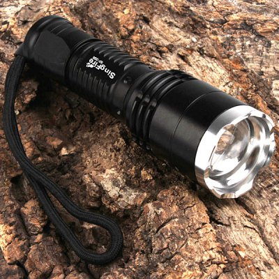 SingFire SF  -  338 1 x Cree XML T6 5 Modes 800LM Neutral White Flashlight (1 x 18650) - SINGFIRELED Flashlights<br>SingFire SF  -  338 1 x Cree XML T6 5 Modes 800LM Neutral White Flashlight (1 x 18650)<br><br>Brand: Singfire<br>Model: SF-338<br>Emitter Type: XM-L T6<br>Total Emitter: XM-L T6<br>Lumens: 800LM<br>Feature: Lanyard<br>Function: Hiking, Seeking Survival, Walking, Night Riding, Hunting, Exploring, Camping, Household Use<br>Battery Type: 18650<br>Battery Quantity: 1 x 18650 (Not included)<br>Mode: 5 (High &gt; Mid &gt; Low &gt; Strobe &gt; SOS)<br>Adjustable Focus: Yes<br>Rechargeable: No<br>Waterproof: IPX-8 Standard Waterproof (Underwater 2m)<br>Power Source: Battery<br>Reflector: No<br>Lens: Plastic Convex Lens<br>Beam Distance: 100-150m<br>Flashlight Processing Technology: Aerospace Grade Aluminum Body with Anti Scratching Type 2 Hard Anodization<br>Body Material: Aluminium Alloy<br>Approximately: 3hrs<br>Product weight: 0.112 kg<br>Package weight: 0.200 kg<br>Product size (L x W x H): 14.7 x 3.5 x 3.5 cm/5.8 x 1.4 x 1.4 inches<br>Package size (L x W x H): 17 x 5.1 x 5.1 cm<br>Package Contents: 1x Flashlight with Strap, 1x English User Manual