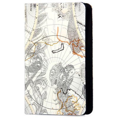 ФОТО ZW - 070 Foldable Stand Function Design Adjustable World Map Pattern Artificial Leather Material 7 inch Tablet PC Protective Case