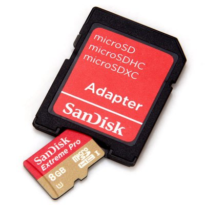 SanDisk Extreme Pro 8GB UHS - 1 Micro SD/TF Memory Card With SD Card A