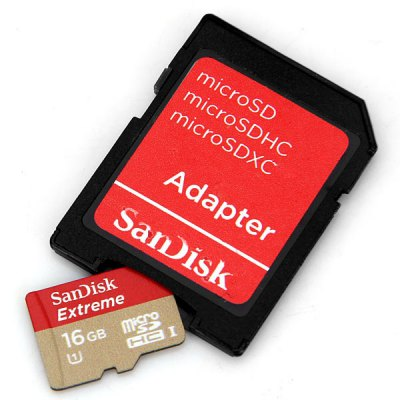 SanDisk Extreme 16GB UHS - 1 Micro SD/TF Memory Card with SD Card Adapter