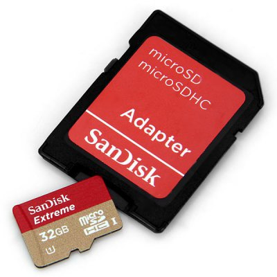 SanDisk Extreme 32GB UHS - 1 Micro SD/TF Memory Card with SD Card Adapter