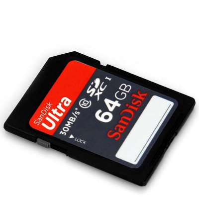 SanDisk Ultra 64GB Class 10 30MB/s Read Speed SD/SDHC Memory Card