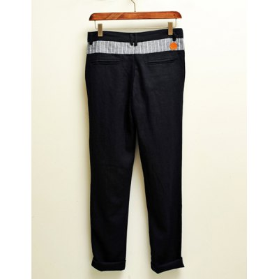 Гаджет   Casual Style Low Wasit Color Splicing Polyester Pants For Men Pants