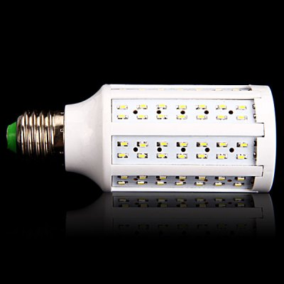 E27 14W 140 x 3014 SMD LED AC110V 1250lm White 6000K Corn LampLED Light Bulbs<br>E27 14W 140 x 3014 SMD LED AC110V 1250lm White 6000K Corn Lamp<br><br>Base Type: E27<br>Type: Corn Bulbs<br>Output Power: 14W<br>Emitter Type: 3014 SMD LED<br>Total Emitters: 140<br>Lumen(s): 1250lm<br>Voltage (V): AC 110<br>Features: Low Power Consumption, Long Life Expectancy, Energy Saving<br>Function: Home Lighting, Commercial Lighting, Studio and Exhibition Lighting<br>Available Light Color: Natural White, Warm White<br>Sheathing Material: Plastic<br>Product Weight: 0.077 kg<br>Package Weight: 0.12 kg<br>Product Size (L x W x H): 4.7 x 4.7 x 12.5 cm (1.85 x 1.85 x 4.9 inches)<br>Package Size (L x W x H): 7 x 7 x 15 cm<br>Package Contents: 1 x Corn Light