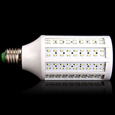 E27 20W 216 x 3014 SMD LED AC220V 1800lm White 6000K Corn LampLED Light Bulbs<br>E27 20W 216 x 3014 SMD LED AC220V 1800lm White 6000K Corn Lamp<br><br>Base Type: E27<br>Type: Corn Bulbs<br>Output Power: 20W<br>Emitter Type: 3014 SMD LED<br>Total Emitters: 216<br>Lumen(s): 1800lm<br>Voltage (V): AC 220<br>Features: Energy Saving, Low Power Consumption, Long Life Expectancy<br>Function: Studio and Exhibition Lighting, Home Lighting, Commercial Lighting<br>Available Light Color: Warm White, Natural White<br>Sheathing Material: Plastic<br>Product Weight: 0.103 kg<br>Package Weight: 0.2 kg<br>Product Size (L x W x H): 6 x 6 x 15 cm (2.36 x 2.36 x 5.9 inches)<br>Package Size (L x W x H): 8 x 8 x 18 cm<br>Package Contents: 1 x Corn Light