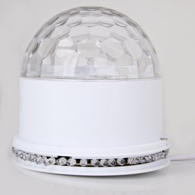 AC220V LED RGB Sunflower Light (US Plug) Crystral Magic Ball Light for Decoration / Party / HolidayStage Lighting<br>AC220V LED RGB Sunflower Light (US Plug) Crystral Magic Ball Light for Decoration / Party / Holiday<br><br>Color: RGB light<br>Output Power: 8W<br>Voltage: AV220V<br>Function: For party<br>Shape: Ball Light<br>Material: Plastic<br>Package weight: 0.4 kg<br>Package size (L x W x H): 13 x 13 x 13 cm<br>Package Contents: 1 x Sunflower Light