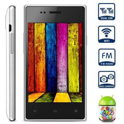 4.0 inch Smartphone Android 4.2 SP8810 1.0GHz HVGA Screen Dual Cameras WIFI