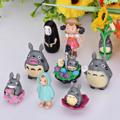 9PCS My Neighbor Totoro Cartoon Character Model