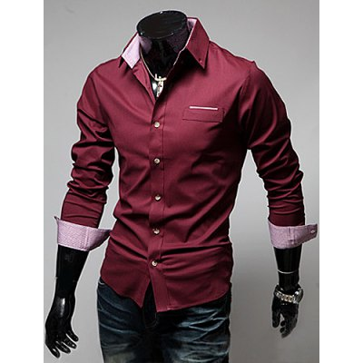 Casual Style Shirt Collar Chic Pocket Color Block Long Sleeves Mens Polyester ShirtMens Shirts<br>Casual Style Shirt Collar Chic Pocket Color Block Long Sleeves Mens Polyester Shirt<br><br>Shirts Type: Casual Shirts<br>Material: Polyester, Cotton<br>Sleeve Length: Full<br>Collar: Turn-down Collar<br>Weight: 0.5KG<br>Package Contents: 1 x Shirt
