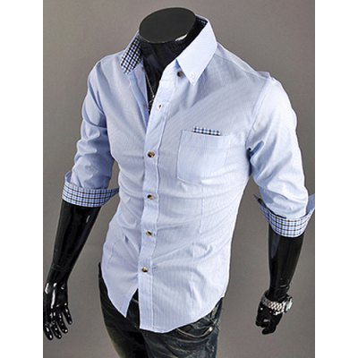 Casual Style Shirt Collar Plaid Splicing Half Sleeves Mens Polyester Stripes ShirtMens Shirts<br>Casual Style Shirt Collar Plaid Splicing Half Sleeves Mens Polyester Stripes Shirt<br><br>Shirts Type: Dress Shirts<br>Material: Cotton, Polyester<br>Sleeve Length: Half<br>Collar: Turn-down Collar<br>Weight: 0.5KG<br>Package Contents: 1 x Shirt