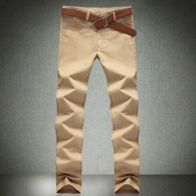 Гаджет   Casual Style Solid Color Slimming Pleated Narrow Feet Cotton Pants For Men Pants
