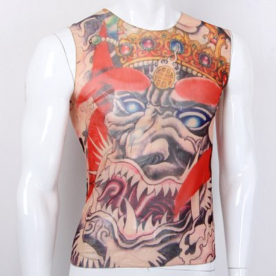 Tattoo Violent Ghost Design Bicycle Sleeveless Cycling Jersey Outdoor Sport Riding Suit Chiffon T Shirt