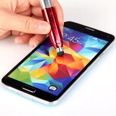 Multipurpose Touch Screen Pen with Point Pen and Dustproof Plug for iPhone 4 / 4S / 5 / 5S / 5C Samsung S6 HTC ONE M9 etc.
