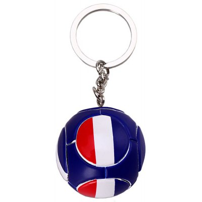 Fashion Fuleco Football Shape Key Pendent 2014 World Cup Frence Flag Keychain Daily Using Gadget