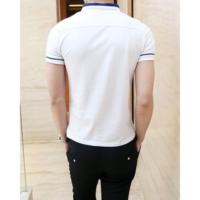 Гаджет   Casual Style Turn-down Colloar Simple Design Shorts Sleeves Cotton Polo Shirt For Men T-Shirts