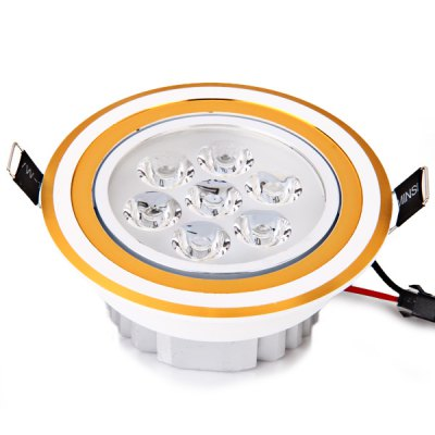 7W 840 Lumens 85 - 265V Warm White Light Ceramic Heat Dissipation Golden Ceiling Lamp