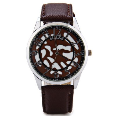 Miler Cool Men Watch Analog with Round Dial Leather Watch BandMens Watches<br>Miler Cool Men Watch Analog with Round Dial Leather Watch Band<br><br>Brand: Miler<br>Watches categories: Male table<br>Watch style: Fashion<br>Movement type: Quartz watch<br>Shape of the dial: Round<br>Display type: Pointer<br>Case material: Stainless steel<br>Band material: Leather<br>Clasp type: Pin buckle<br>Water Resistance: Life waterproof<br>The dial thickness: 0.7 cm/0.3 inch<br>The dial diameter: 4.2 cm/1.7 inch<br>Product weight: 0.043 kg<br>Product size (L x W x H): 25.5 x 4.2 x 0.7 cm/10.0 x 1.7 x 0.3 inches<br>Package Contents: 1 x Watch