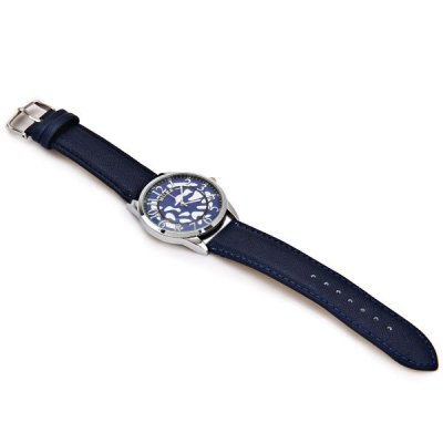 Фотография Miler Cool Men Watch Analog with Round Dial Leather Watch Band