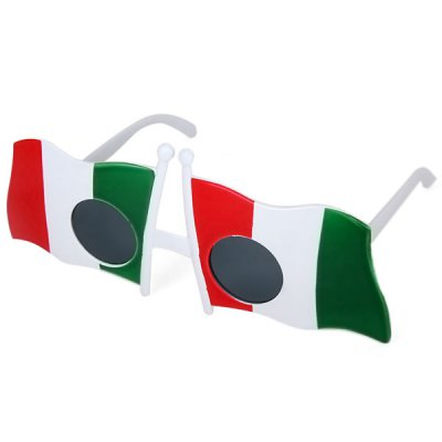 1PCS Italy Flag Pattern Eyewear Glasses for 2014 Brazil World Cup