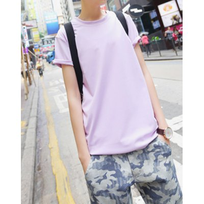 Гаджет   Casual Style Round Neck Number Print Short Sleeves Cotton T-shirt For Men T-Shirts