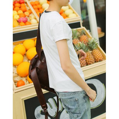 Гаджет   Korean Style Round Neck Slimming Button Embellished Short Sleeves Cotton T-shirt For Men T-Shirts