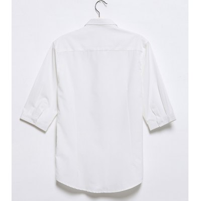 Гаджет   Casual Style Turn-down Collar Slimming Solid Color Half Sleeves Polyester Shirt For Men Shirts