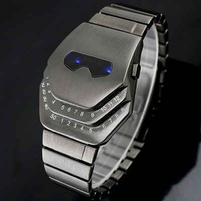 Men Blue LED Snake Head Watch
